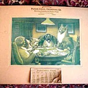 1906 Poker Playing Dogs Calender