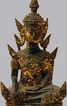 Antique Asian Deity Sculpture Gold Gilt Metal