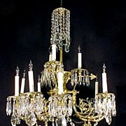 Antique Victorian Crystal Chandelier Cherubs Lighting