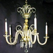 Antique Cut Glass Crown Top Chandelier