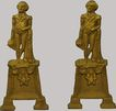 Fireplace Andirons George Washington  Historical Figural