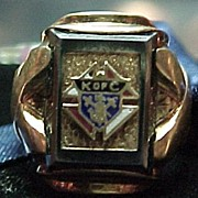 Vintage 10k Enamel Ring Knights of colombus