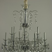 Vintage Cut Crystal Waterford Type Chandelier