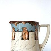 Royal Doulton Pitcher Owl Mice