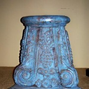 Italian Hand Carved Wood Seat Hand Painted Great for the Wine Cellar