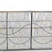 Antique Fireplace Screen Wire Work