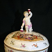 KPM Compote with Cherub Finial