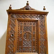 Antique Carved Ships Medical Cabinet: Nautical
