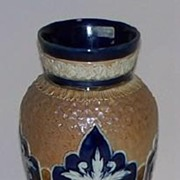 Royal Doulton Vase:Gilt Circle Enamel