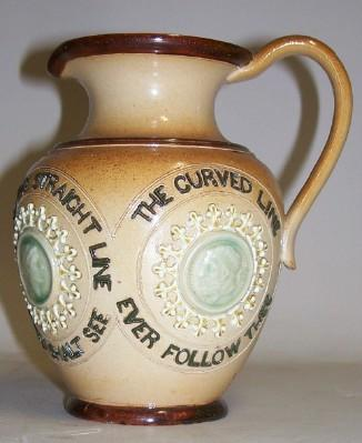 Doulton Lambeth Pottery Pitcher Enamel Cameos