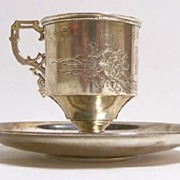 Russian Silver Cup & Saucer dated 1894