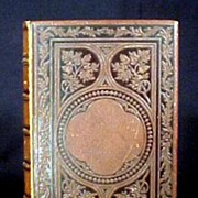 Book Artic Exploration of mid 1800's Leather Bound ,Engravings,Awesome !