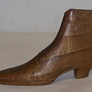 Antique Shoe Makers Form Carved Wood