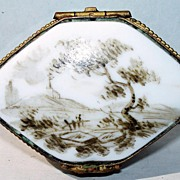 Antique Porcelain Box : Signed Samson