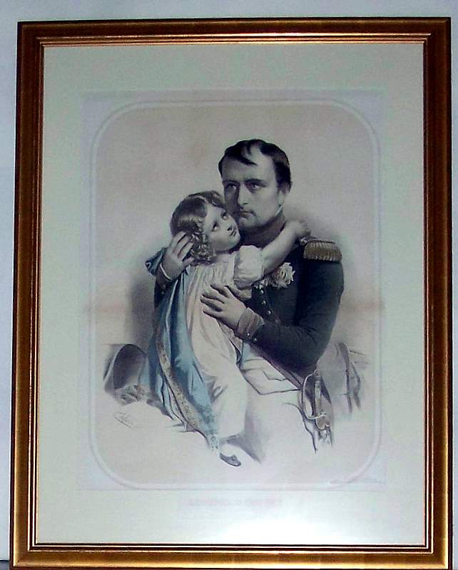 Napoleon & Son Lithograph Original Paris