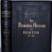 Leather Books History of Boston 2vol 1881