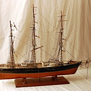Antique Sailing Ship Model,Hand Made Early 1900's From Maine