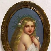 Painting On Porcelain Portrait Of Blond Girl