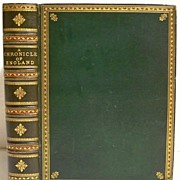 Leather Bound Book Chronicles Of England  1864
