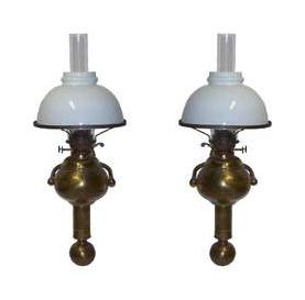Ships Wall Sconces Oil Burning Gimball