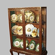 Curio Cabinet or Bookcase Chippendale Carved Mahogany