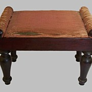 Small Footstool Classical Design,Begging for a Needlework Cover
