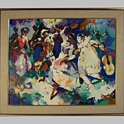 Painting French Impressionist Signed  Lucien Rouolle