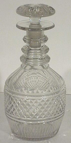 19th Century Irias Cut Glass Decanter