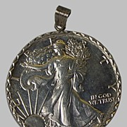 Mounted Silver Dollar Key Chain