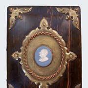 1800's Stationary Blotter Book With Wedgwood Cameo