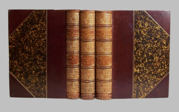 Adventures Of Gil Blass 1886 3 volumes fine