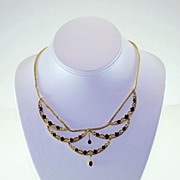 Necklace Garnet & 18K Gold