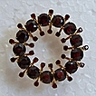 Antique Gold & Garnet Brooch 14K Gold Large Stones Heavy Gold