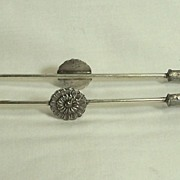 Silver Plate Tongs with Claws for Pickle Castor
