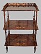 Birdseye Walnut 3 Tier Stand Inlaid  Elegant