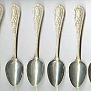 Sterling Silver Teaspoons Set of Six Crescent Pat