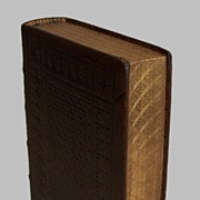 Holy Bible Fine Binding 1861 Embossed Leather Detailed Gold Gilt Edges
