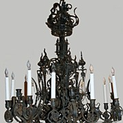 Iron Chandelier Forged Iron Victorian Large 18 Lights The Very Best