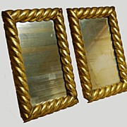 Mirror Pair Gold Gilt Early 1800s