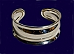 Sterling Silver Bracelet Wide Cuff