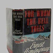 SALE Hemmingway For Whom The Bell Tolls  1st Edition 1940