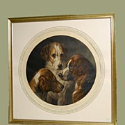 Fox Hounds Print : Barraud 1850 British Artist