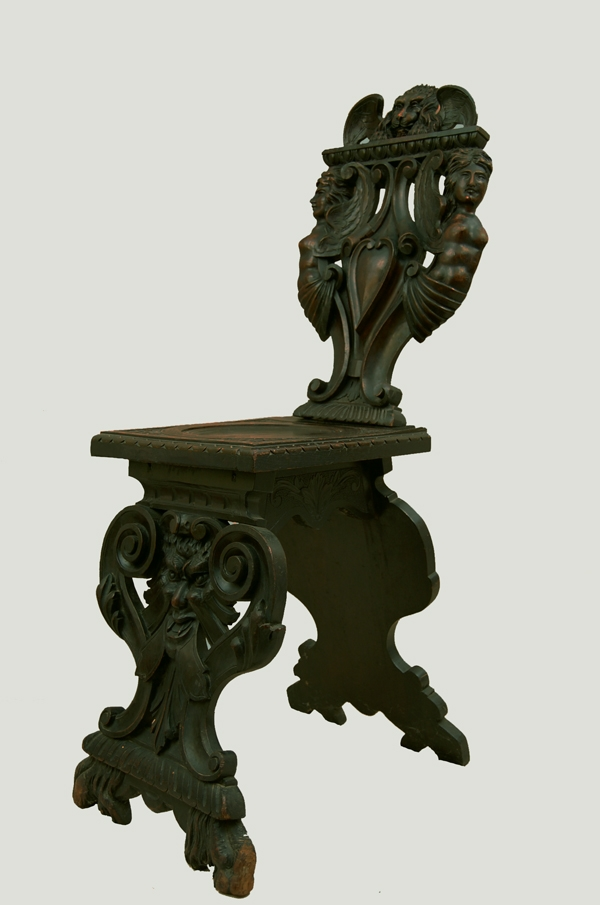 Carved Italian Chair Urbino Courting Chair