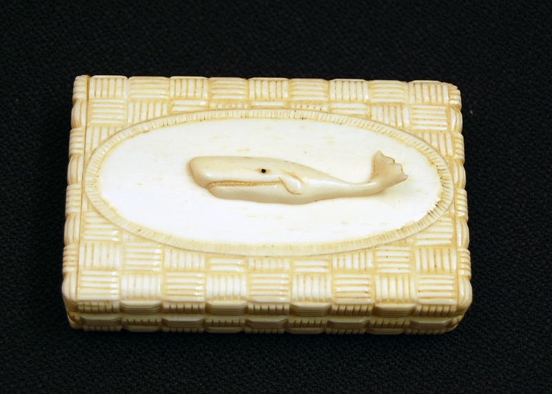 Nautical Box Carved Whale Bone
