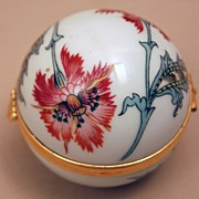 Limoges Porcelain Egg Shape Box