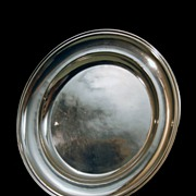 French Silver Serving Tray Round Very Large