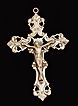 Antique Sterling Silver  Crucifix Cross,Deeply  Chashed ,Heavy Silver