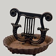 Cast Iron  Boot Scraper Classical Lyre Design Early 1800's