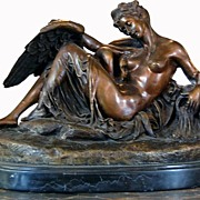 Bronze Sculpture Leda & The Swan