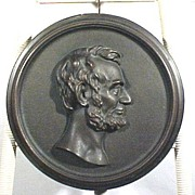19th Century Bronze Portrait, Lincoln